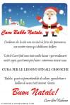 Letterina della Cure Girl Rebecca a Babbo Natale