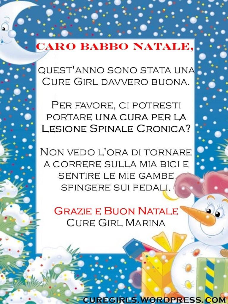 Grazie E Buon Natale.Lettera Della Cure Girl Marina A Babbo Natale Cure Girls