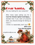 Letter to Santa from cure girl Arcangela
