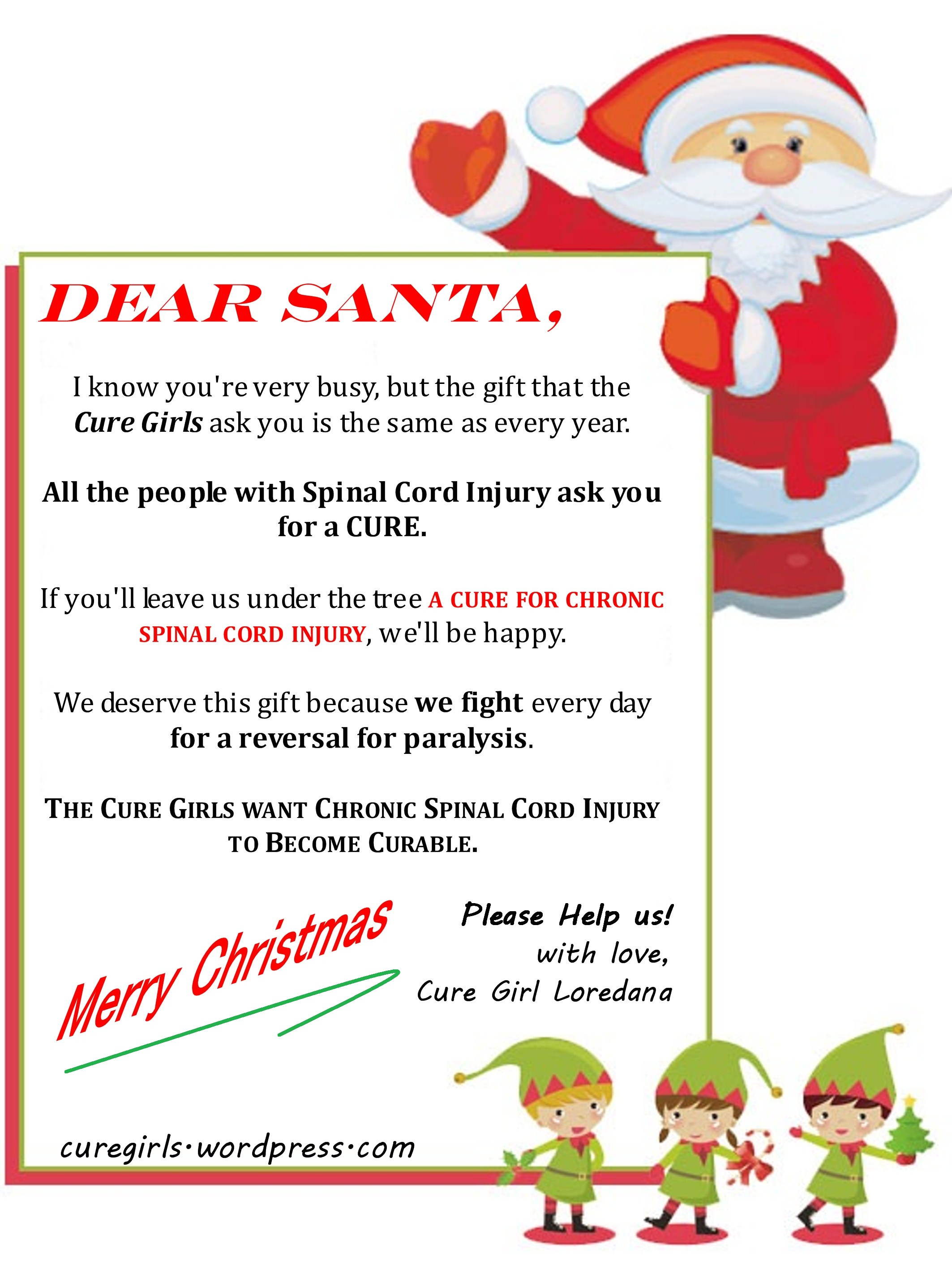 Letter To Santa From Cure Girl Loredana  Cure Girls