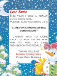 Letter to Santa from Cure Girl Marina