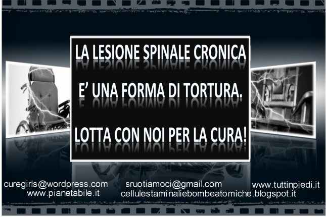 THE SPINAL INJURY IS A FORM OF TORTURE… FIGHT WITH US FOR THE CURE!