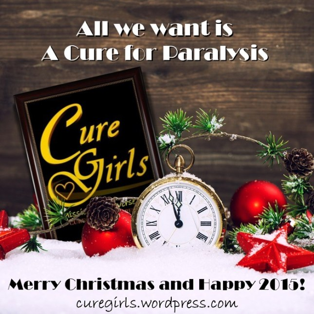 Merry Christmas and Happy 2015 from the Cure Girls.