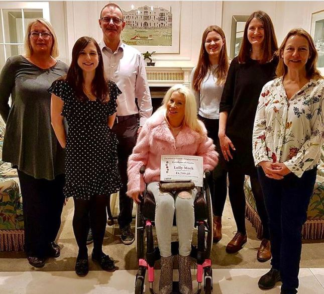 Spinal Research team with Lolly